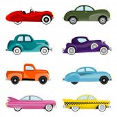old cars vector
