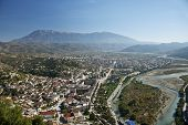 View Of Berat Town Center In Albania