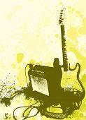 vetor de guitarra e Felipe de estilo grunge