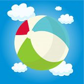 image of beach-ball  - beach ball - JPG