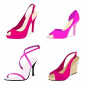 stock photo of high heel shoes  - fashion shoes - JPG