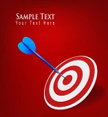 Success target in business. Vector Illustration.
