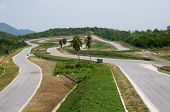 Empty Race Circuit In Thailand
