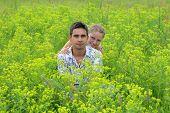 Couple In Green Fields 1