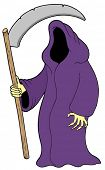 Grim reaper on white background - vector illustration.