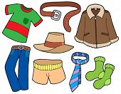 Man clothes collection - vector illustration.