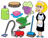 Cleaning collection 1 - vector illustration.