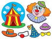 Circus clown collection - vector illustration.