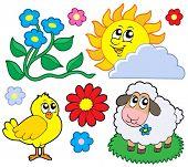 Colección 1 - Ilustración del vector de la primavera.