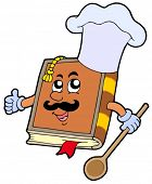 stock photo of chefs hat  - Cartoon recipe book  - JPG