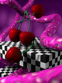 3D Abstract With Cherrys