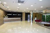lobby in modern building