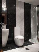 Innenraum einer Toilette
