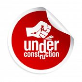 under construction sticker