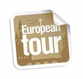 European tour vector sticker