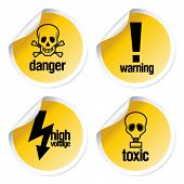 stock photo of chemical weapon  - Toxic vector stickers set - JPG