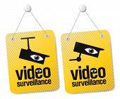 Videoüberwachung Zeichen festgelegt.