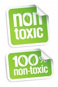 Non toxic product stickers set.