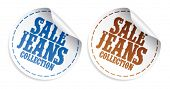 Sale Jeans collection tickers set