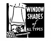 Window Shades - Retro Ad Art Illustration