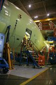 Inside Aerospace Manufacturing Plant