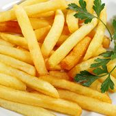 Side Dish French Fries Served with Parsley