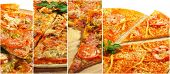 Collage from Photographs of Pizza