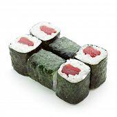 Постер, плакат: Магуро Маки суши ролл с свежего тунца