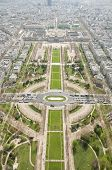 Birdseye view of Paris from Eiffel Tower