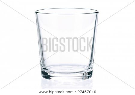 Picture or Photo of Empty glass for water, juice or milk on white background