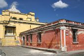 Two of Antigua Guatemala's ancient stone churches