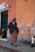 Elderly Mayan Woman in Antigua, Guatemala