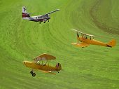 Three Vintage Airplanes