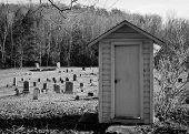 Cementerio de cobertizo de madera