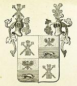 Wappen Fürstentum Thurn. Illustration von Alwin Zschiesche, veröffentlicht auf
