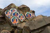 The Image Buddha On A Stone