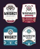 Whiskey And Scotch Whisky Labels poster