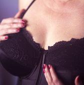 Erotic Model Lingerie Big Breasts poster