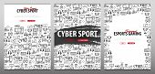 Set Of Cyber Sport Banners. Esports Gaming. Video Games. Live Streaming Game Match. Vector Illustrat poster