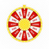 Roulette Or Fortune Wheel Isolated On Transparent Background. Gambling And Lottery Win Concept. Whee poster