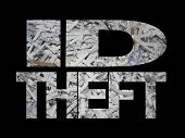Id Theft With Shredded Paper
