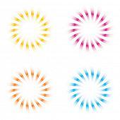 Sunburst vector-set
