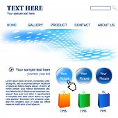 Web site vector design template