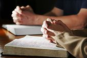 Praying Hands & Bibles