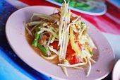 Thai Papaya Salad Hot And Spicy