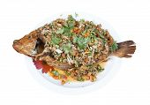 Spicy Fried Thai Red Tilapia Fish Salad poster