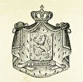 Wappen der Niederlande. Illustration von Alwin Zschiesche, veröffentlicht auf