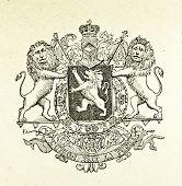 Wappen des Königreichs Belgien. Illustration von Alwin Zschiesche, veröffentlicht auf