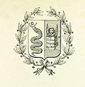 Wappen von Lombardei und Venedig. Illustration von Alwin Zschiesche, veröffentlicht auf
