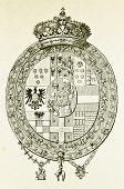 Wappen von Herzogtum von Parma. Illustration von Alwin Zschiesche, veröffentlicht auf